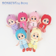 Hot Sale 1pcs NEW Kids Toys Soft Interactive Baby Dolls Toy Mini Doll For girls and boys Gift Princess Doll Stuffe 8cm Ddung