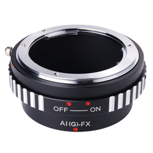 Top Deals Adapter Ring For Nikon AI AF G lens to Fujifilm Fuji X Mount X-Pro1 Camera DC294 Black-silver