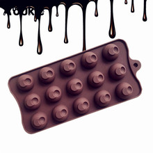 15 Hole Moons Shape Chocolate Mould DIY Jelly Cake Silicone Mold Muffin Cake Decoration Tools Cookie Pudding Ice Cube Molds L111(China)