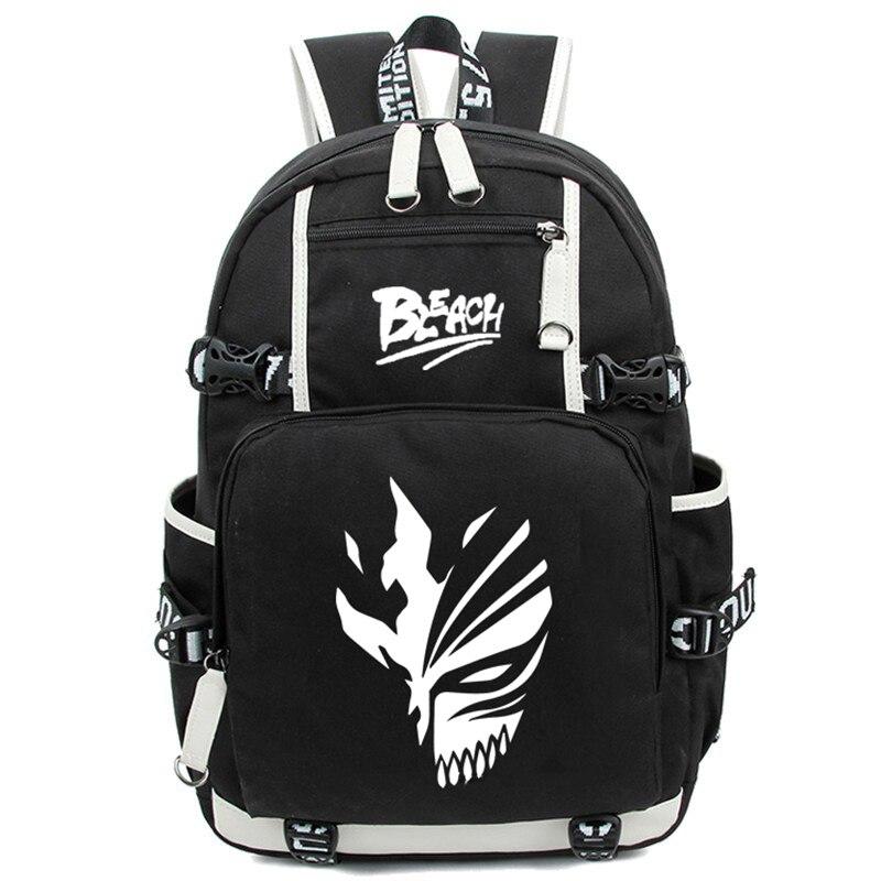 Hot Janpan Anime Ichigo Kurosaki Luminous Backpack Fashion Cartoon Bleach Rucksack Children Students School Bags Mochila<br>
