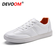 2017 Autumn Shoes Men White Shoes High Quality PU Leather Man Shoes Brand Casual Comfortable Boat Cheap Shoe Mens Zapatos Hombre(China)