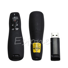 2.4GHz USB Wireless PPT PowerPoint Presenter Page Up and Down Remote Control Powerful Laser Pointer Pen For Teaching(China)