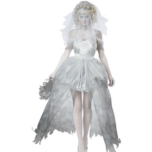 Women's Dead Beauty Ghost Bride Costume Corpse Bridal Costumes for Halloween(China)