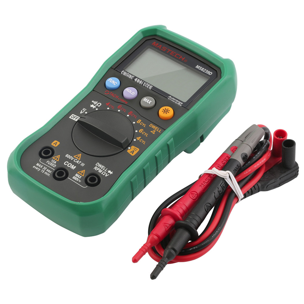 Free shipping Digital Multimeter MS8239D car engine analysis DMMS Dwell Angle/ Speed 4CYL~8CYL Continuity Tester Multitester<br><br>Aliexpress