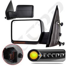Eccpp Towing Power Heated Turn Signal Tow Side Mirror Fits 2004 - 2006 Ford F150 Pickup Truck Left And Right Mirrors Pair Set