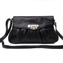 2017 American Fashon Design Women Shoulder Bag Genuine Leather Women Bag Cowhide Handbags Real leather cow skin Bag(China)