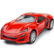 The Fast and the Furious 1:43 scale diecast metal mini Lykan Hypersport super sports cars model pull back alloy toys for kids