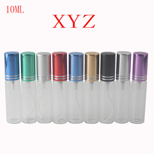 10 Color 10ml Mini Fashion Transparent Glass Perfume Bottle Portable Travel Perfume Atomizer Spray Bottle Cosmetic Container(China)