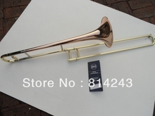 Brand Bach B Flat Alto Trombone Musical Instrument Surface Gold Lacquer Phosphor Copper Professional Trombone With Case