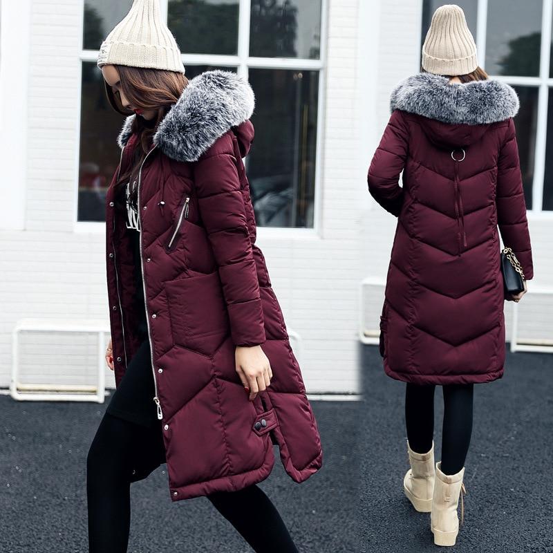Winter Women Coat Jacket Warm High Quality Woman Park Jackets Winter Coat Hood Fur Collar Belva 2017 New Winter Collection 785<br>