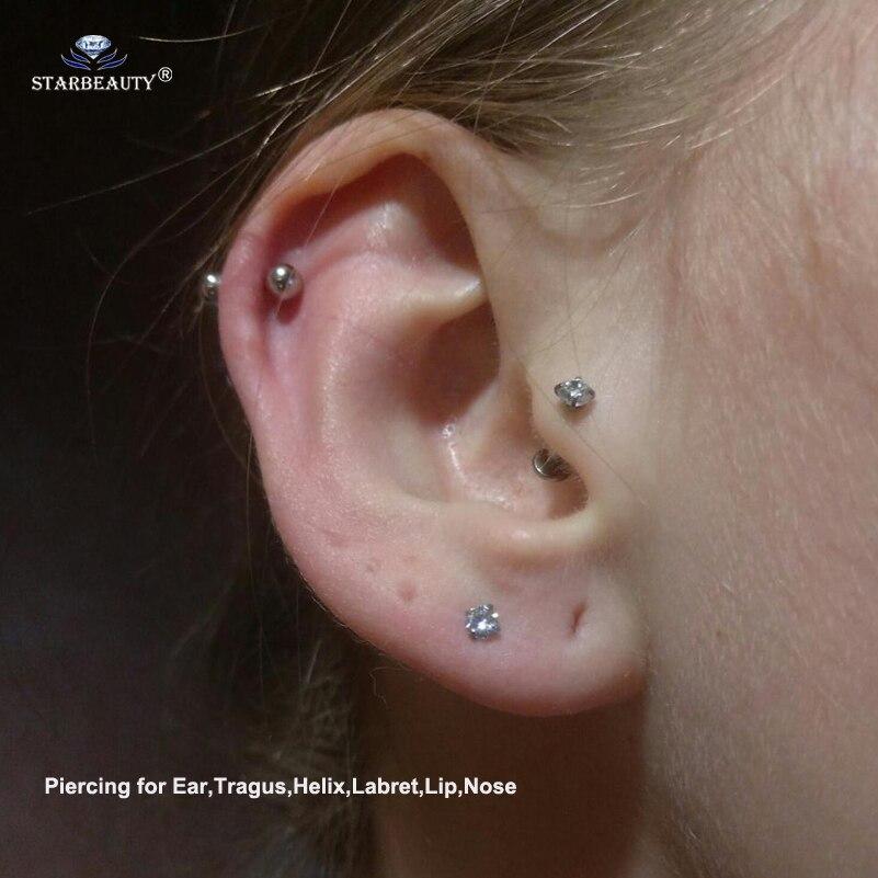 Helix y orejas piercing cadena estrella estrellas 5 cadenas 1,2 x 6 mm