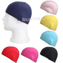 Pure Color Swim Caps Durable Sportive Flexible Polyester Piscine Swimming Hat Bathing Cap For Men Women Candy Colors 1PC