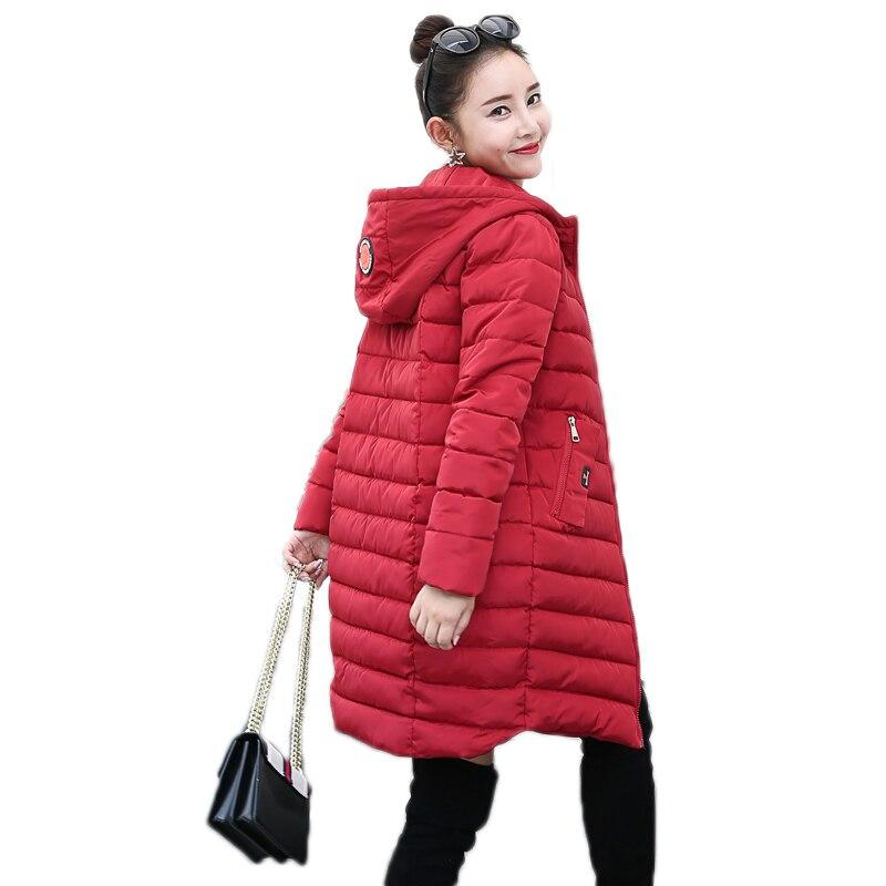 2017 big size 3XL cotton padded winter women jacket coat long solid black red womens parka hooded jaqueta feminina invernoÎäåæäà è àêñåññóàðû<br><br>