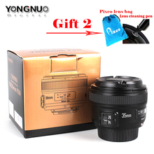 Yongnuo 35mm F/2 1:2 Auto Focus Wide-Angle Prime Lens For Nikon with cleaning Pen /Pixco lens bag