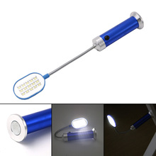 Flexible 28cm Ultra Bright Mini 15LED Magnetic Work Light 360 Degree Rotation Table Lamp Torch Flashlight Convenient for Reading(China)
