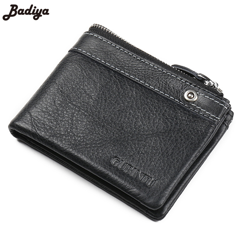 Famous Brand Genuine Cow Leather Men Wallets Brief Design Bifold Short Men Purse Male Clutch Card Holder Bag Coin Purses Wallet<br><br>Aliexpress