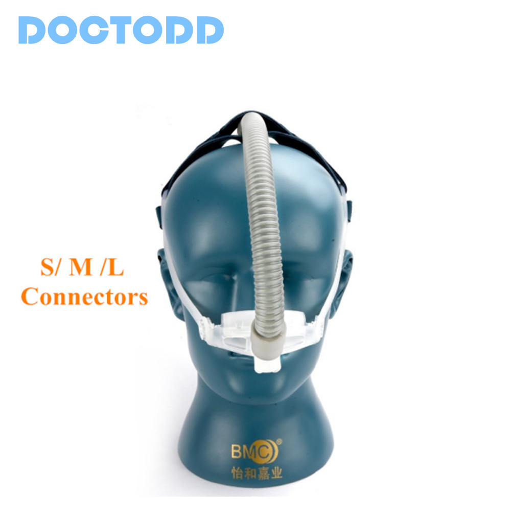 DOCTODD WNP CPAP Nasal Pillows System Mask Ventilator Available Sleep Health Care 3 Size Cushion Stop Snoring Free Shipping<br>