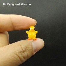 Miniature Model Standing Mini Cute Little Yellow Duck Resin Crafts Decoration Toy Kid(China)
