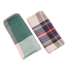 Women Winter Blanket Oversized Tartan Scarf Plaid Checked Wrap Shawl Bloggers Favourite New
