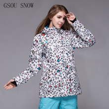 2017 GSOU SNOW New Designer Snowboard Jacket woman Outdoor Hiking and Camping Coat Winter Waterproof Windproof Clothing jacker(China)