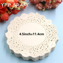 "YPP CRAFT 4.5"" Vintage napkin Hollowed Lace Paper mat Doilies Crafts DIY Scrapbooking/Card Making/Wedding Decoration(90pcs/bag)"