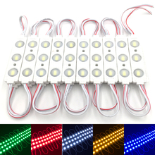 100pcs/lot New 5730 3 LED Injection LED Module 12V with Lens Waterproof IP65, 120 degree 1.5W, LED Sign, Shop Banner