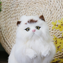 New Lovely Simulation Stuffed Plush Cats Dog Toys Soft Cute Plush Toys Kids Gift Home Decoration Crafts Figurines&Miniatures Toy(China)