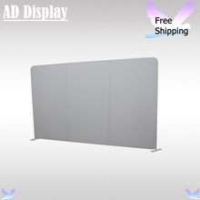 13ft*8ft Straight Shape Tension Fabric Blank Banner Display Wall,Trade Show Portable Advertising Stand,Exhibition White Banner