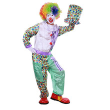 Free Shipping (NO.LSYD 420g) Adult Halloween costumes clowns clown wearing suits, magic clothing, stage clothing(China)