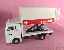 Brand New JOYCITY 1/72 Scale Germany MAN Swissair Airport Truck Diecast Metal Car Model Toy For Gift/Kids/Collection/Decoration(China)