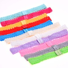 15pcs Newborn Headbands lace headbands hairbands hair elastic Band head bands hair headband flower Head Wrap(China)