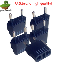 U.S.Brand high quality! 5 pcsUS to EU Plug adaptor plug convertor plug adaptor Travel Adapter  US to EU Power Converter