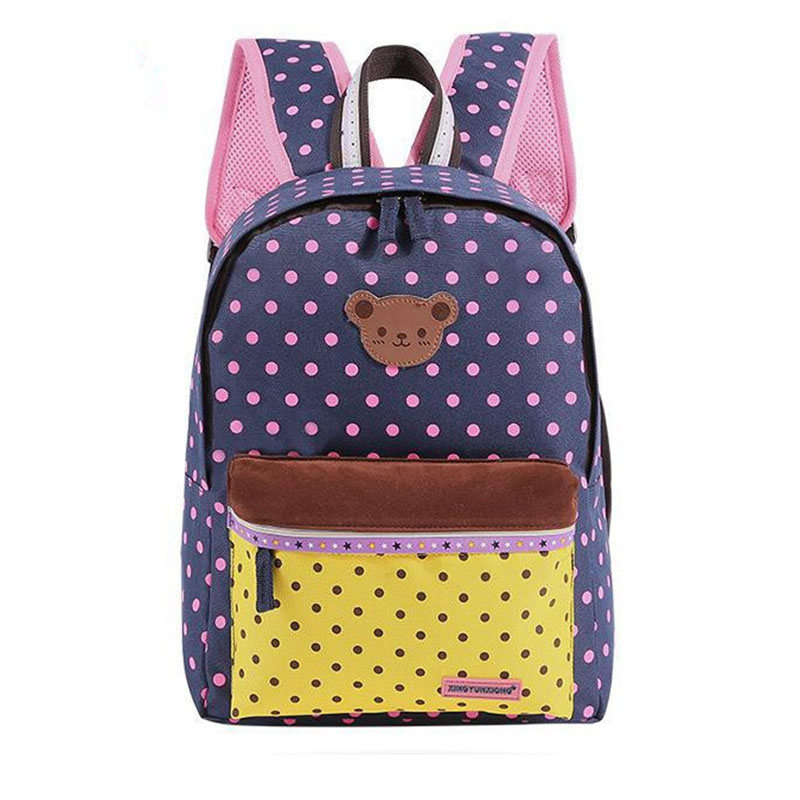 New Cute Bear Dot Star Backpacks School Bags For Teenagers girls Canvas Shoulder laptop Bag Travel Bagpack Bolsas Mochilas Li293<br><br>Aliexpress