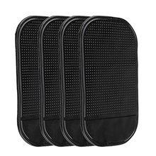 AUTO 4 PCs Black Magic Sticky Pad Anti Slip Mat Car Dashboard for Cell Phone