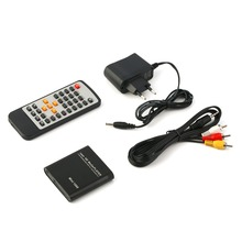 Mini Full 1080p HD Media Player Box MPEG/MKV/H.264 HDMI AV USB Remote EU plug