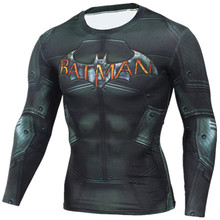 Real Compression Shirt Iron Man Long Sleeve 3D Print Crossfit T Shirt Men T-Shirts Tights Madrid Fitness Clothing Tops Male