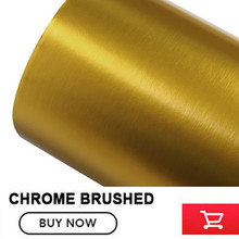 stretching gold Matte Chrome Brushed gold Vinyl Wrap Film Bubble Free For Car Wrapping chrome Brushed Car Sticker(China)