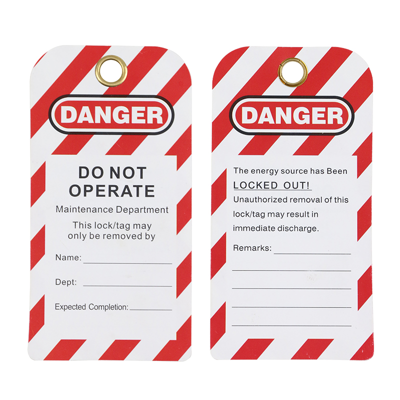 5PCS Security Lockout Tagout Tag DO-NOT-OPERATE Warning Remark Card Label