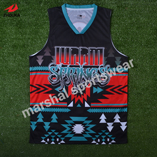 full sublimation custom 100%polyester good quality mens basketball team jerseys(China)