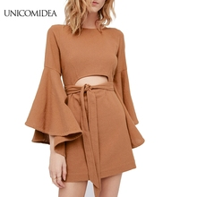 UNICOMIDEA 2017 Free ship Butterfly sleeve Mini Dress People Sexy Backless Elegant Short Party Dress Summer Boho Chic Vestidos