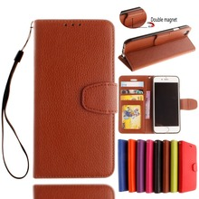 Coque For iPod Touch 5/6 Litchi Luxury PU Leather Stand Wallet Flip Cover Case for iPhone On 5S SE 5C 6S 7 Plus With Card Slots(China)