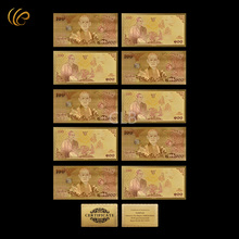 Wholesale Colorful 100 Baht Gold Banknote Gold Plated 100 Currency Paper Money with Certificate Card for  Business Gift