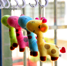 4Colors, NEW Giraffe Wedding Plush Toy , 10CM height little Giraffe Plush Stuffed animal Toy  with key chain