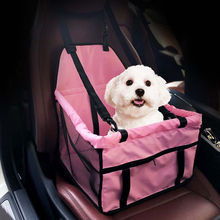 Portable Pet Car Seat Belt Booster Safety Travel Carrier Bag Folding for Small Dog Cat Puppy Pink Blue(China)