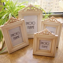 4pcs/lot Christmas Decorations For Home FAMILY Wooden White Picture Frame Desktop Ornament Rarto Photo Frames(China)