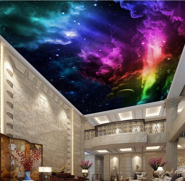 Custom photo wallpaper, 3D sky murals for the living room bedroom ceiling KTV bar background wall waterproof papel de parede<br><br>Aliexpress