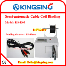 Automatic Copper Wire /Electric Wire Binding Machine/Wire Cable Coil Bundling Machine KS-K03+ Free Shipping by DHL air express(China)
