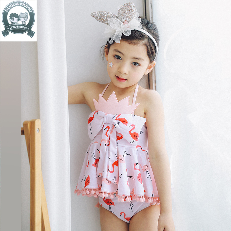 2017 Baby girls swimsuit children Bow princess dress Swimwear Summer Beach Bathing Suit Children Tankini Kids Girl Swimsuit 322<br>