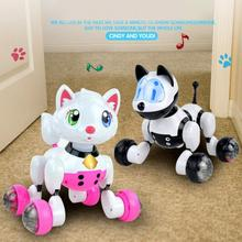Smart kids pet toy dog cat infrared remote control series cat dog robot(China)