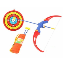 New Arrival 6pcs/set Children Outdoor Sport Toy Bow And The Arrow With Target Quiver Safty Shooting Crossbow Toy For Kids Gifts